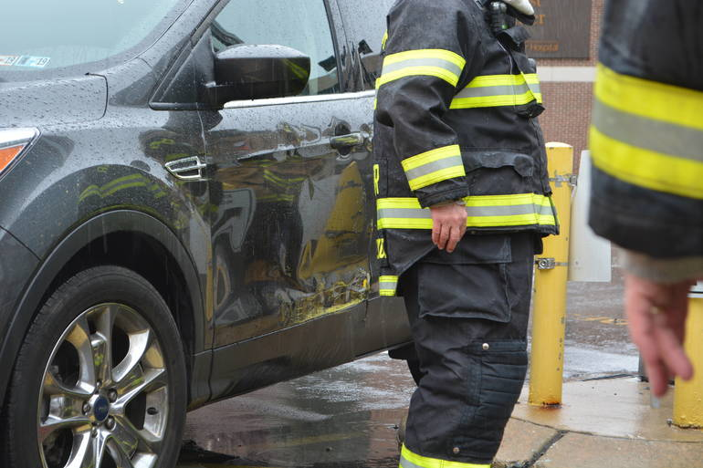 35 S. Bryn Mawr Ave 3-25-2019 Woman pinned by auto at parking lot (42).JPG