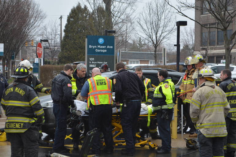 35 S. Bryn Mawr Ave 3-25-2019 Woman pinned by auto at parking lot (33).JPG
