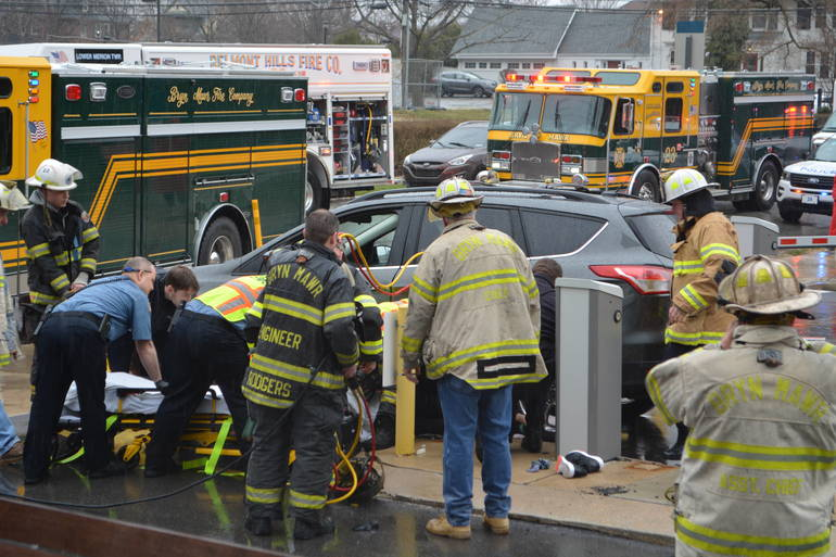 35 S. Bryn Mawr Ave 3-25-2019 Woman pinned by auto at parking lot (21).JPG