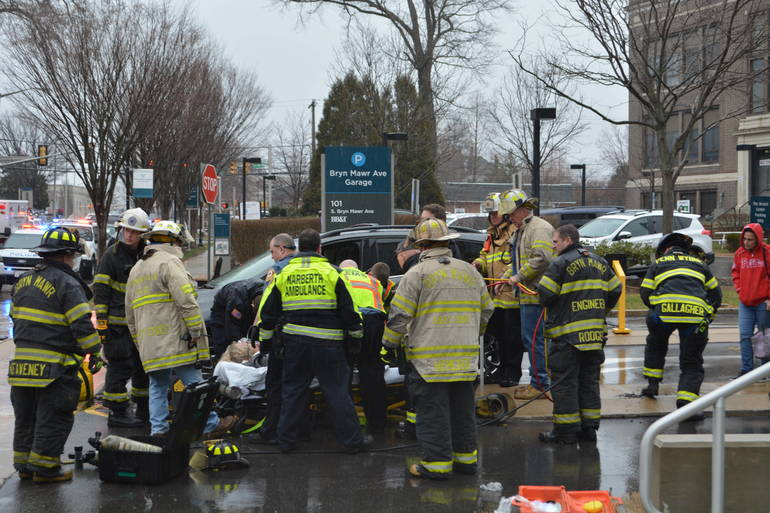 35 S. Bryn Mawr Ave 3-25-2019 Woman pinned by auto at parking lot (27).JPG