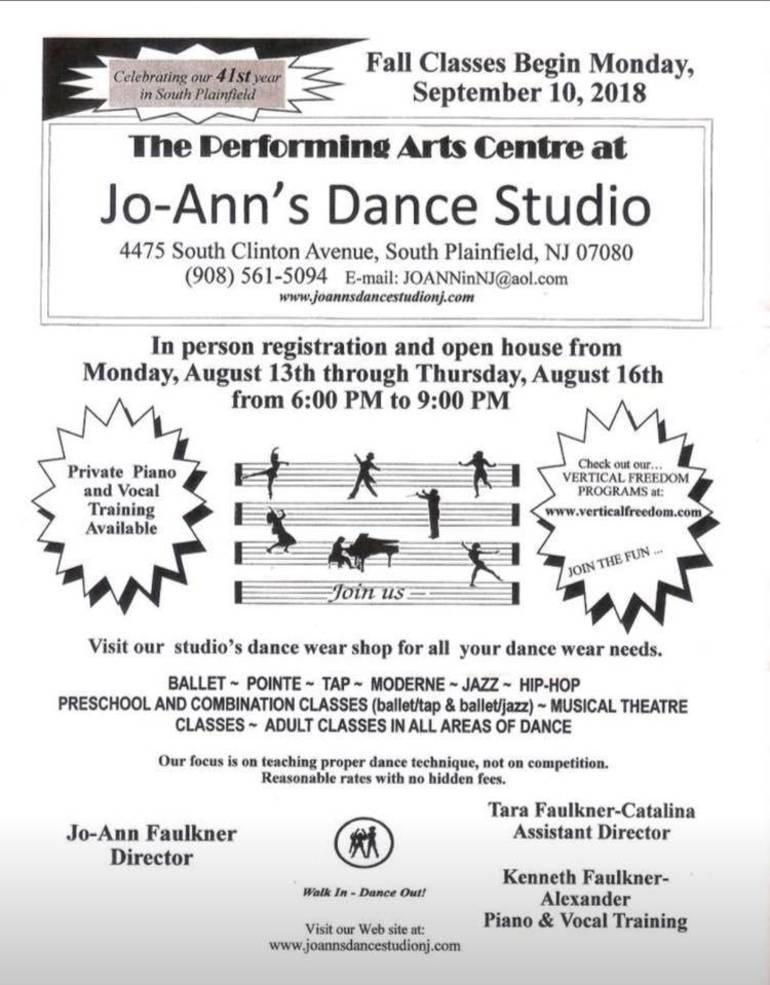Jo-Ann's Dance Studio Holding Registration for 41st Year