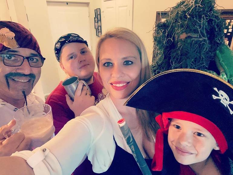 Pirates, Cowboys, Wizards – All Part of Coral Springs Family's Theme Nights At Home