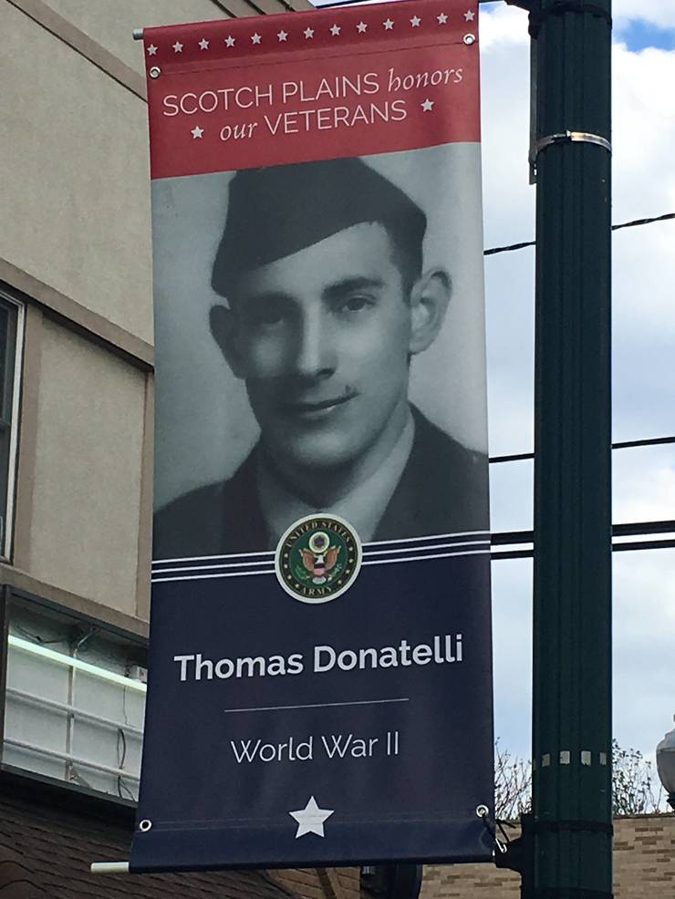 Hometown Heroes banners line Park Ave. in Scotch Plains.