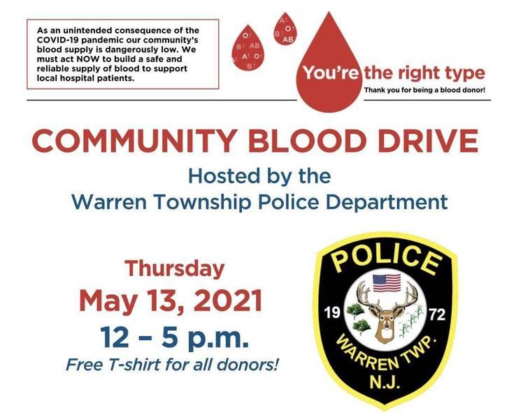 Warren Police Host Community Blood Drive
