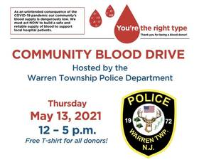 Warren Police Host Community Blood Drive