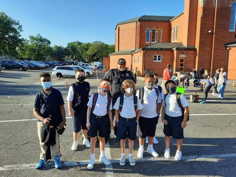 Bloomfield Police and Fire Departments Welcome Students Back to School