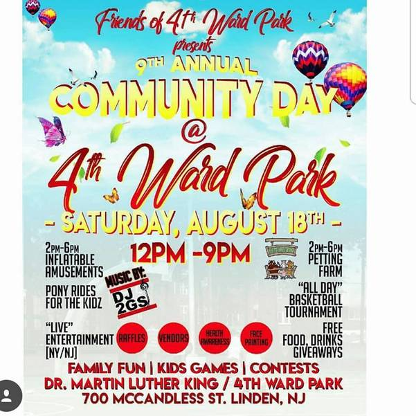 Friends of 4th Ward Park to Host 9th Annual Community Day on August 18