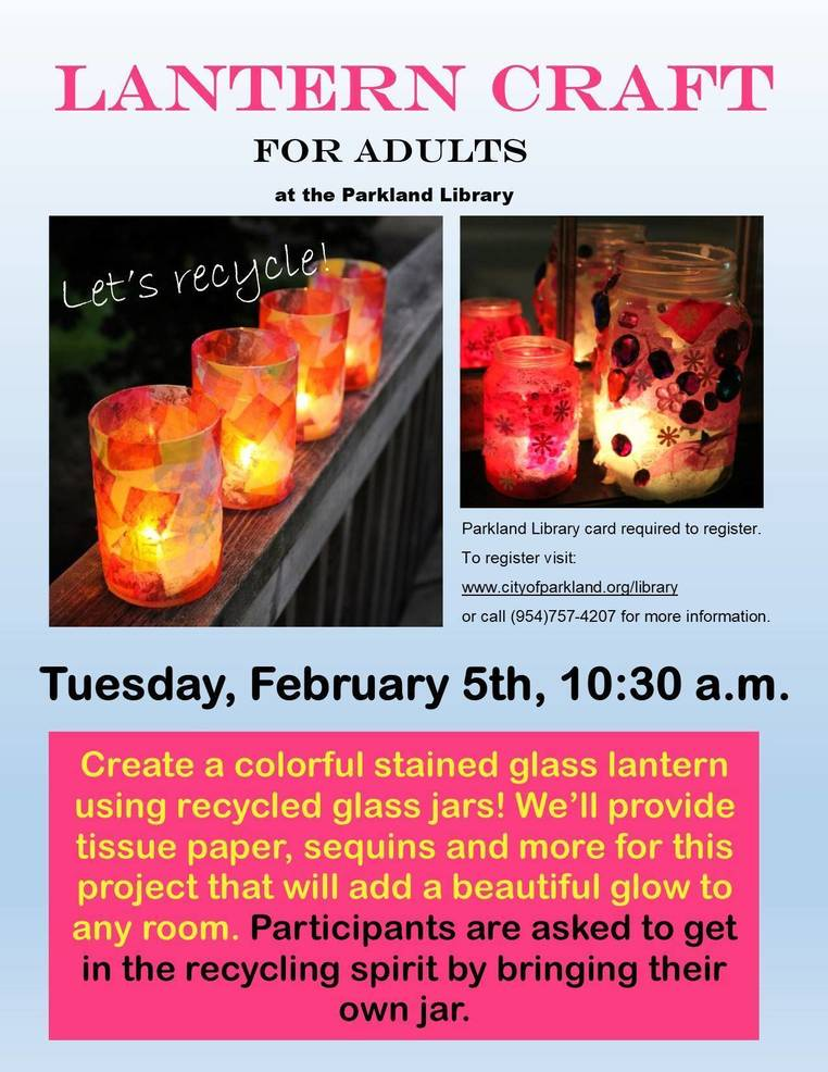 Lantern Craft for Adults