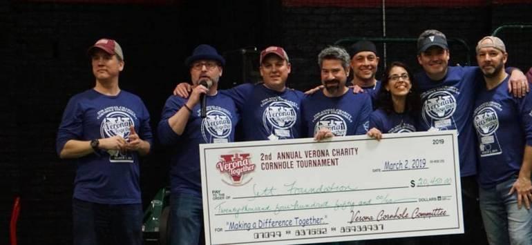 Photo of the Day:  Verona Together's Cornhole Tournament Raises $20K for Jett Foundation