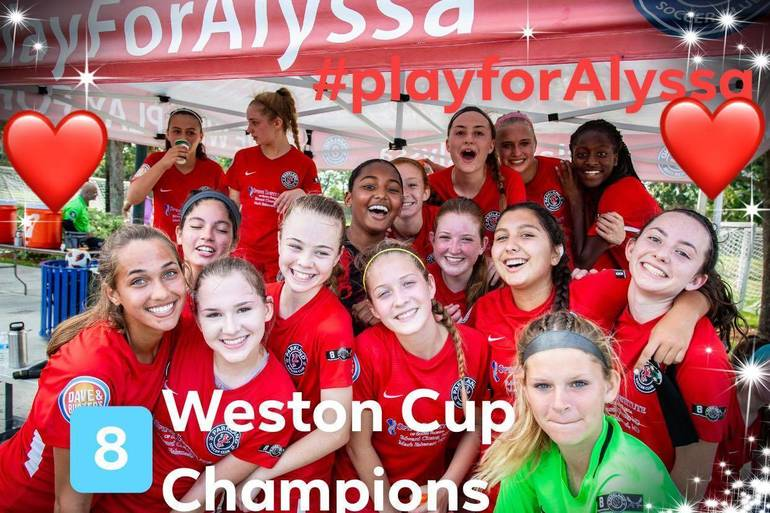 Play for Alyssa- Weston Cup Champs