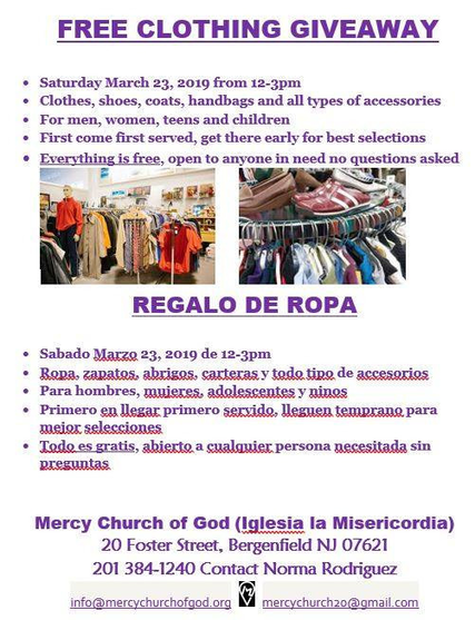 Free Clothing Giveaway Tomorrow In Bergenfield S Mercy Church Tapinto
