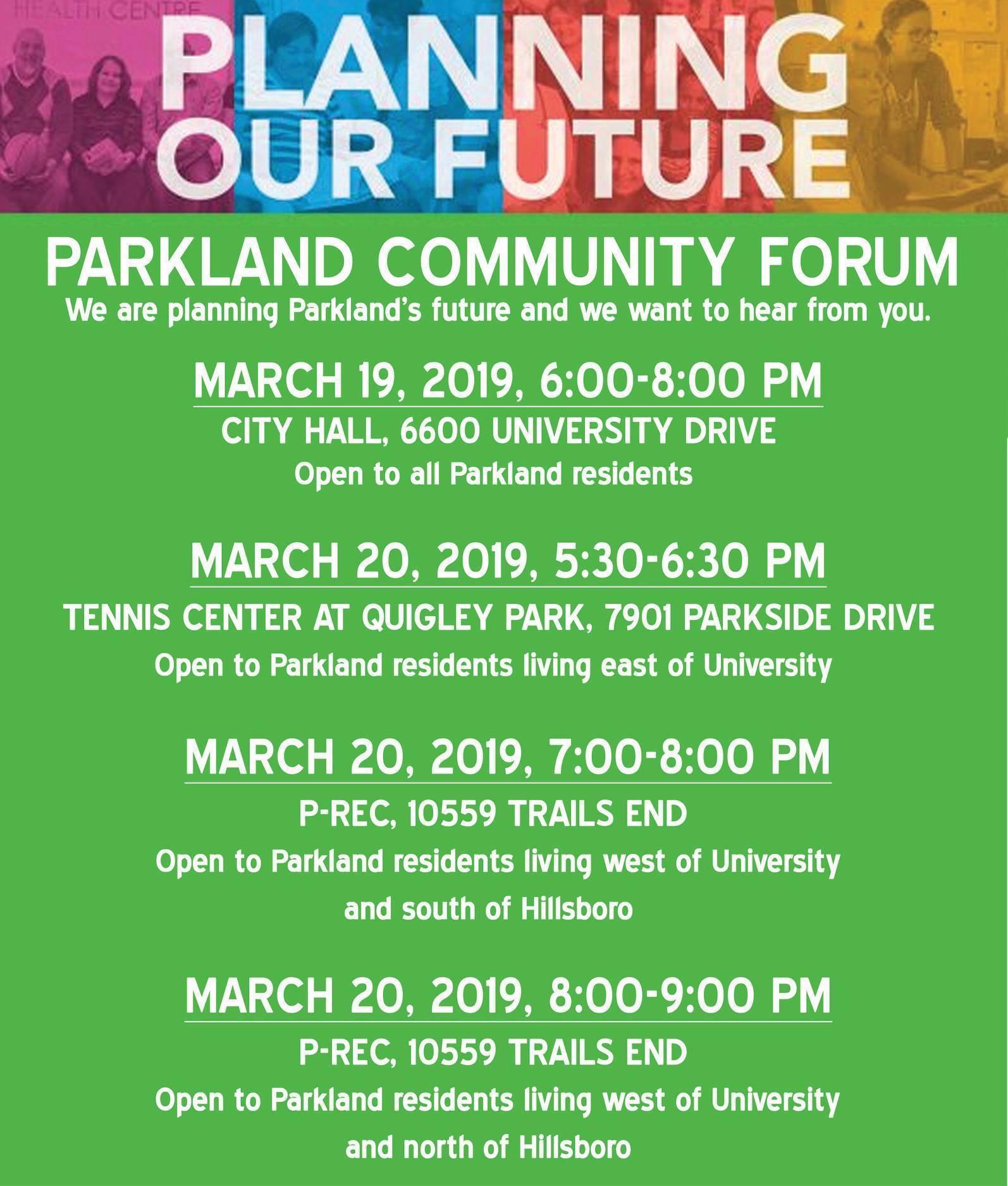 Planning Parkland's Future