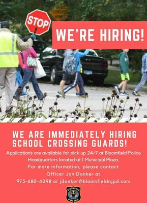 Would You Like to Be a School Crossing Guard in Bloomfield?