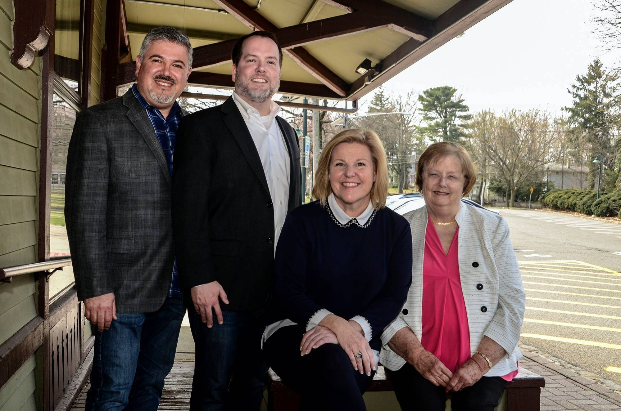 Fanwood Councilman Jeff Banks, candidate Kevin Boris, Mayor Colleen Mahr and Councilwoman Kathy Mitchell are running on the Democratic ticket in 2019