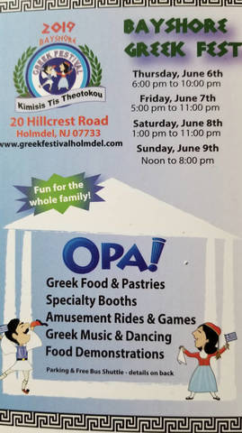Greek Holmdel Festival is Coming! - TAPinto