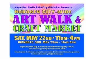 Hoboken Art Walk & Craft Market - Saturday, May 22