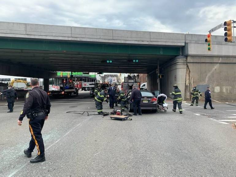 Accident Snarls Traffic at Bloomfield Avenue and JFK Drive