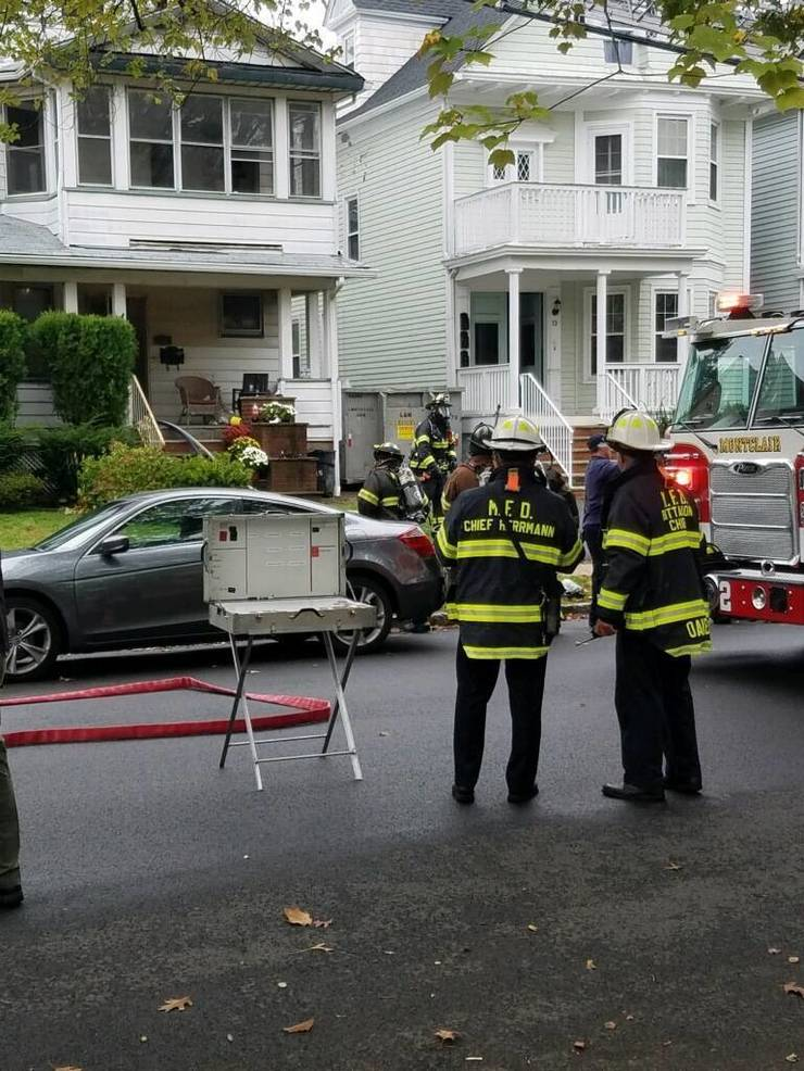Fire Breaks Out While Residents Away: Montclair Firefighters Rush to Scene of Saturday Morning Blaze