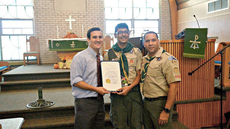 Three from Yorktown Earn Eagle Scout Rank