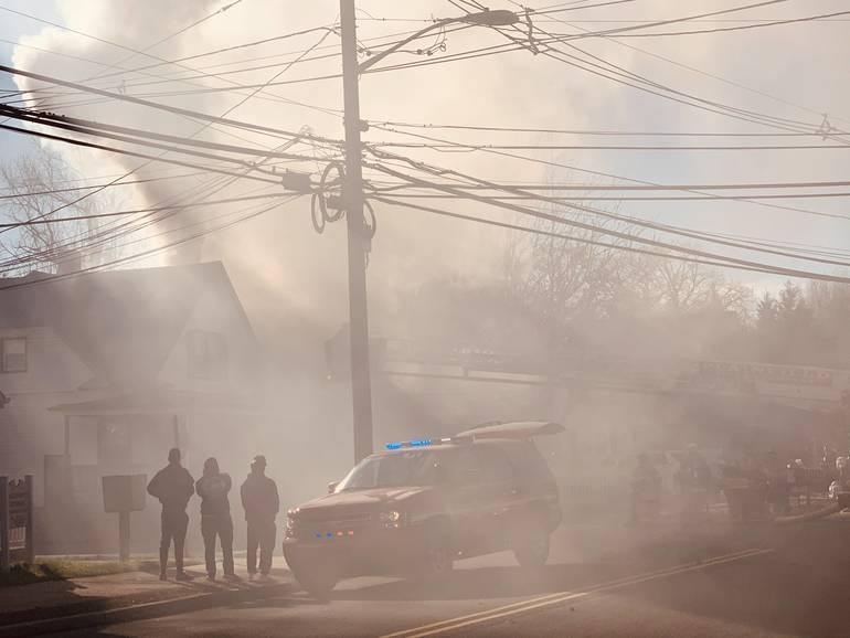 Plainfield Fire with Heavy Smoke on Randolph Rd. Sunday