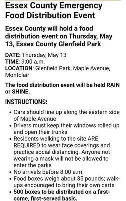 Food Distribution at Glenfield Park Today