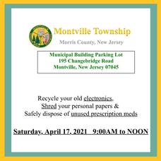 Montville Township Shred, Recycle & Prescription Disposal Event on Saturday