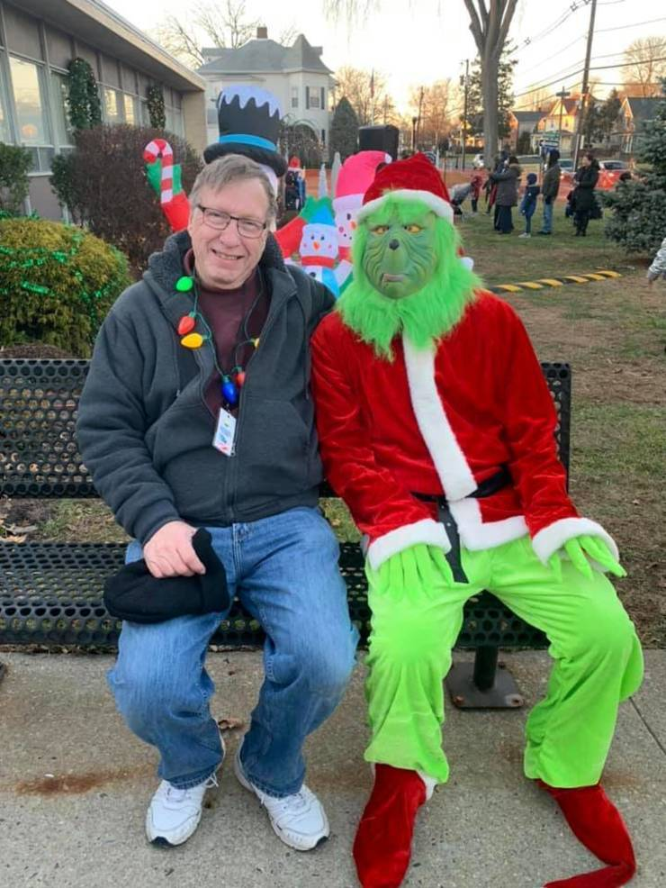 Bill Seesselberg with the Grinch