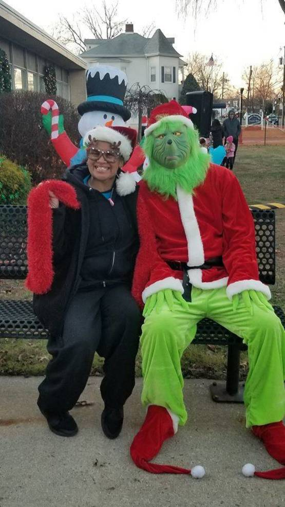 Diane with the Grinch