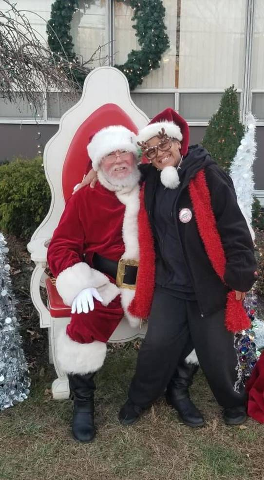 Diane with Santa