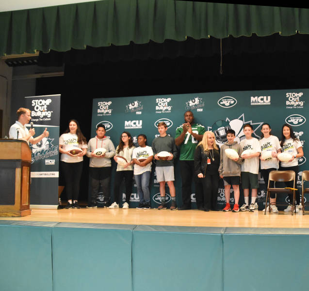 NY Jets and STOMP Out Bullying Honor Lazar Middle School