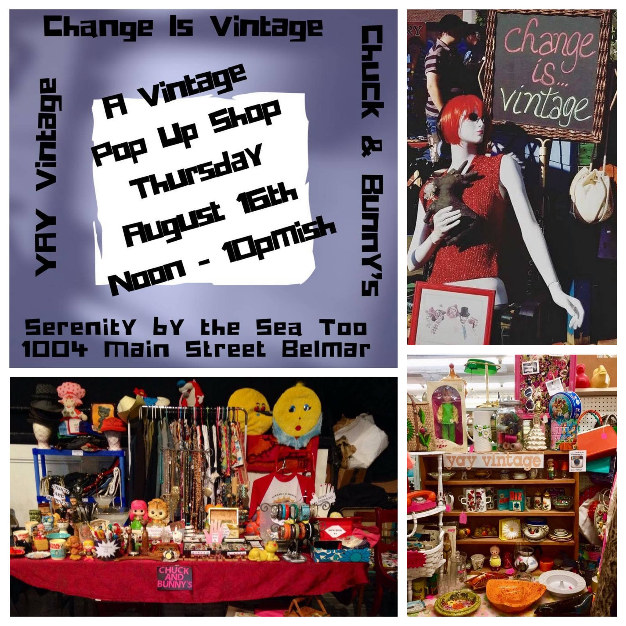 Vintage Lovers' Paradise: Popping Today at Serenity by the Sea too