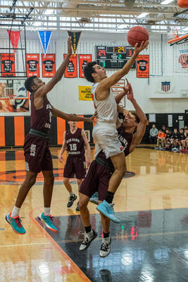 Jaxon Baker Pours in 27 and Tyler Quinn Adds 24 Points to Lead Barnegat to 61-59 Victory Over Mater Dei
