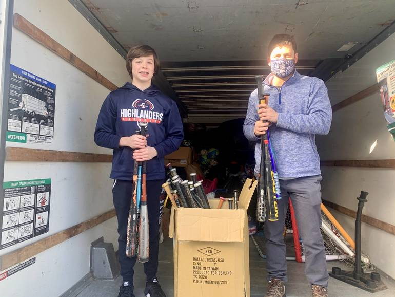 Gov. Livingston Sophomore Aidan LInde Holds Inaugural Youth Sports Equipment Drive: Putting All Kids in the Game
