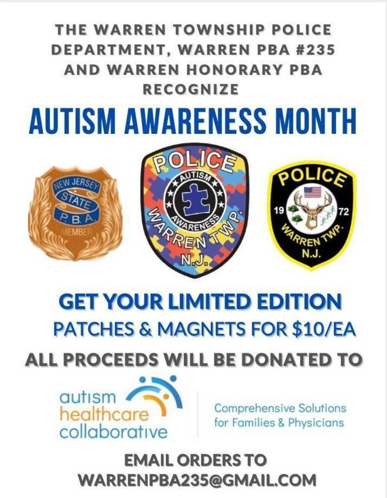 Warren Police Kick Off Autism Awareness Month and Fundraiser