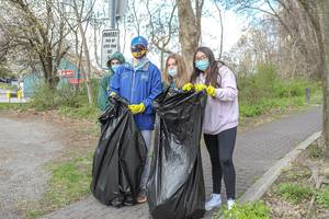 Teen Volunteers Clean Up Mahopac