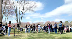 Bedford Rallies Against AAPI Violence