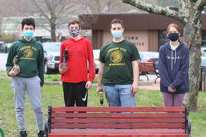 Scout Fixes Benches at Yorktown Park