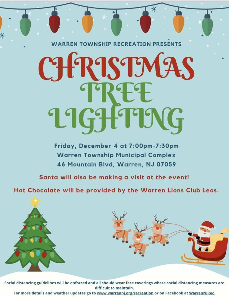 Warren Township Readies for the Holidays with Christmas Tree and Menorah Lightings