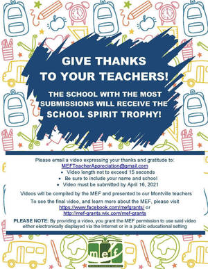 Montville Teacher Appreciation Contest