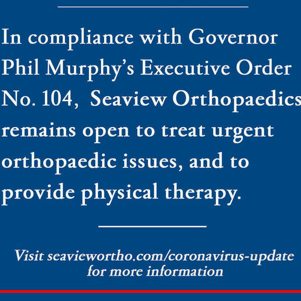 Seaview Orthopaedics is always here to care for you
