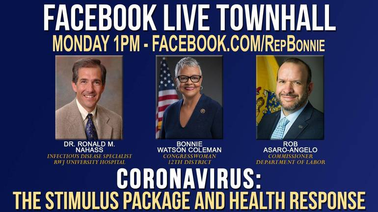 WATCH: Rep. Bonnie Watson-Coleman Live with Labor Commissioner, Infectious Disease Doctor