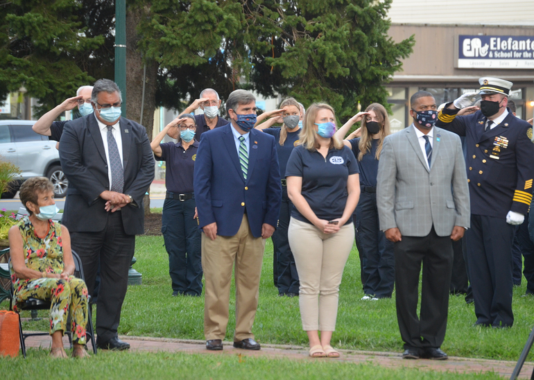 Scotch Plains Council members at the Scotch Plains 9/11 memorial service on Friday, Sept. 11, 2020.