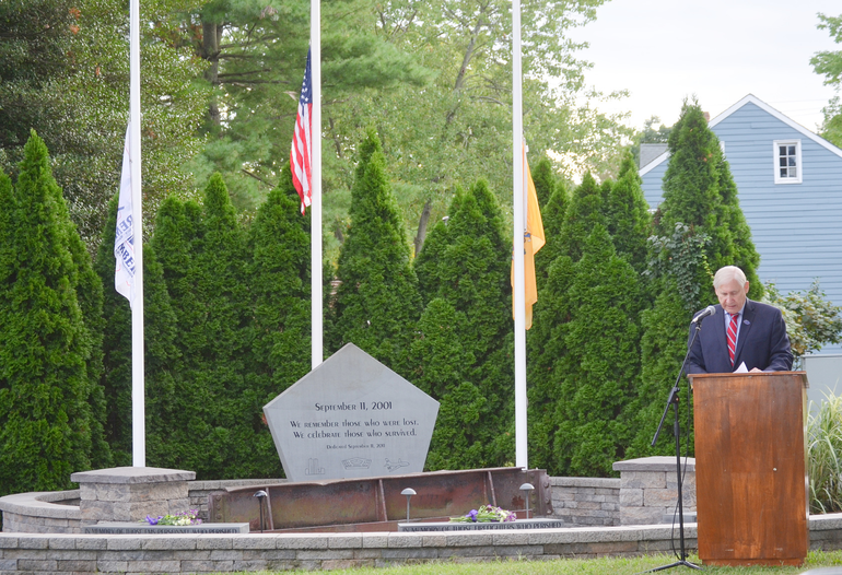 Scotch Plains Mayor Al Smith at the 9/11 memorial service on Friday, Sept. 11, 2020.