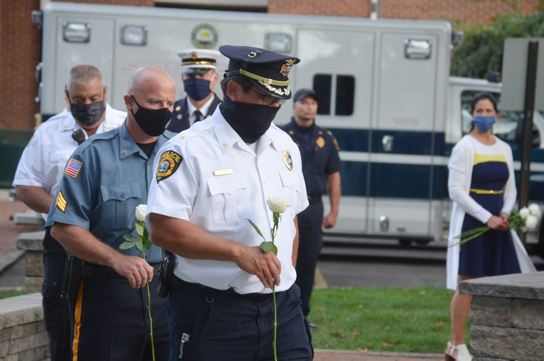 Scotch Plains police chief Ted Conley at the 9/11 memorial service on Friday, Sept. 11, 2020.