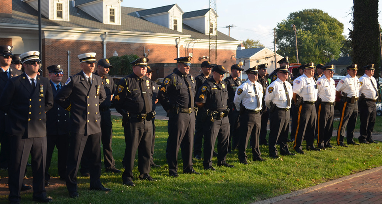 Members of the Fanwood and Scotch Plains police and fire departments