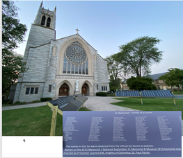 Never Forget 9/11 -- St. Paul's Makes the Point, Name by Name