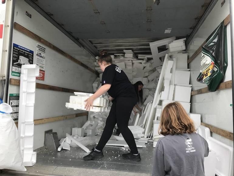 Glen Rock Recycling Center Styrofoam Drive Yields Full 17-Foot Box Truck