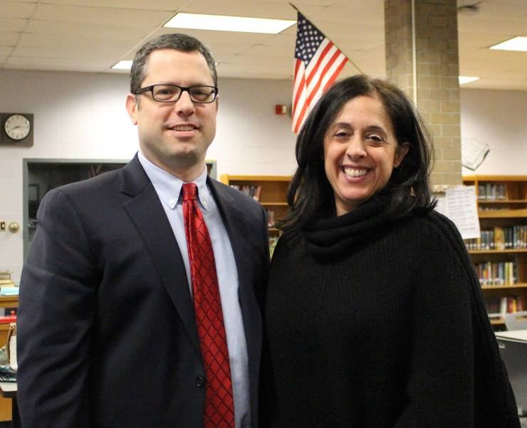 Warren Township Schools Board of Education President, Mr. David Brezee and Vice President, Mrs. Lisa DiMaggio during a Warren Township Schools Board of Education meeting.  9521218D-CD33-46C8-A3C6-9A19A1E03473.jpeg