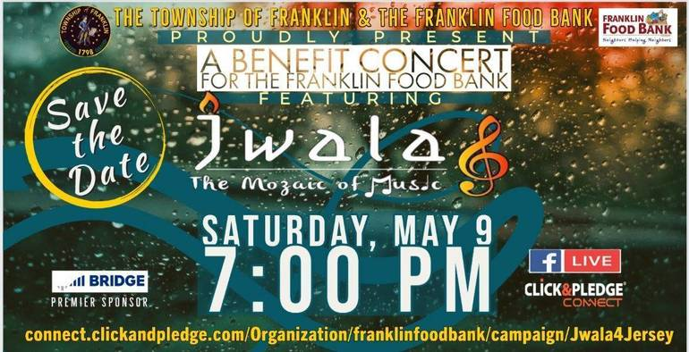 Virtual Indian Music Concert to Benefit Franklin Township Food Bank