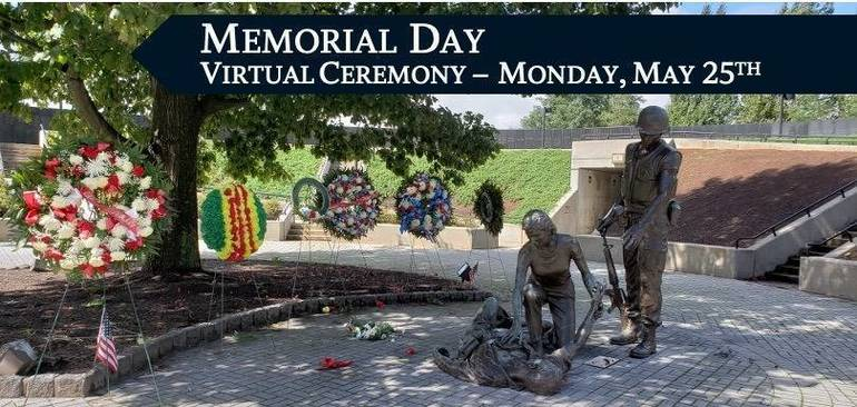 Email your video clip of support for NJ Vietnam Veterans' Memorial  Virtual Memorial Day Ceremony